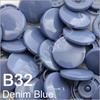 B32 Denim *25* complete snap set