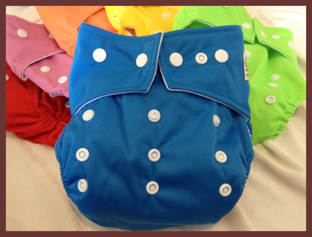 Blue Pocket One Size Diaper