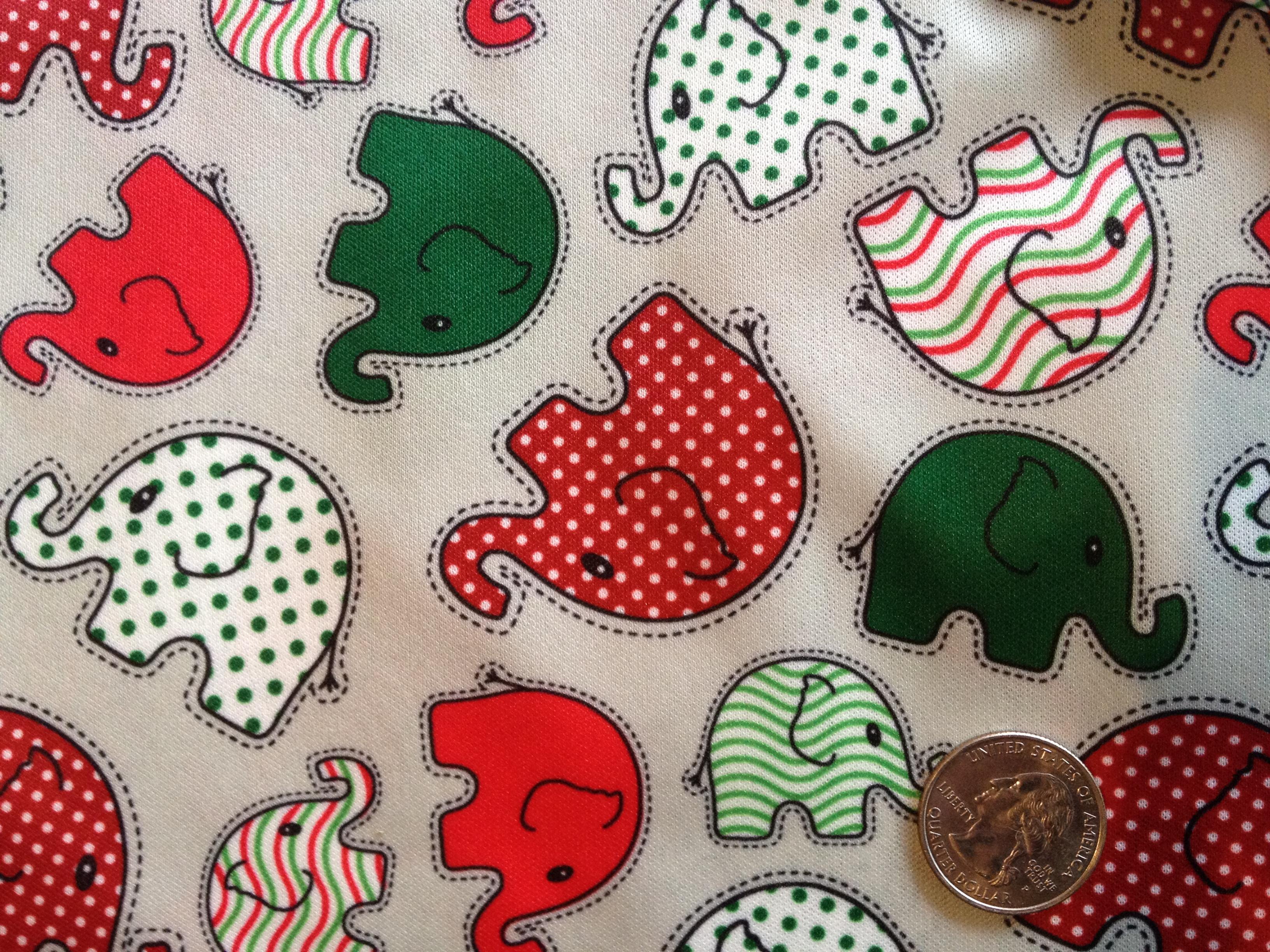 "Elephants Christmas 29"" X 58/60"""
