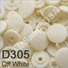 D305 Off White  * 25 * complete snap set