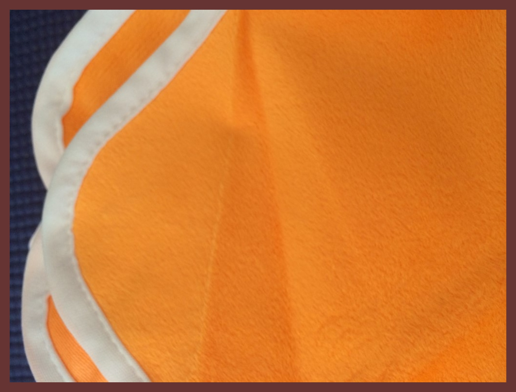"Orange Minky - 28""X28"" Diaper Cut/Changing Pad"