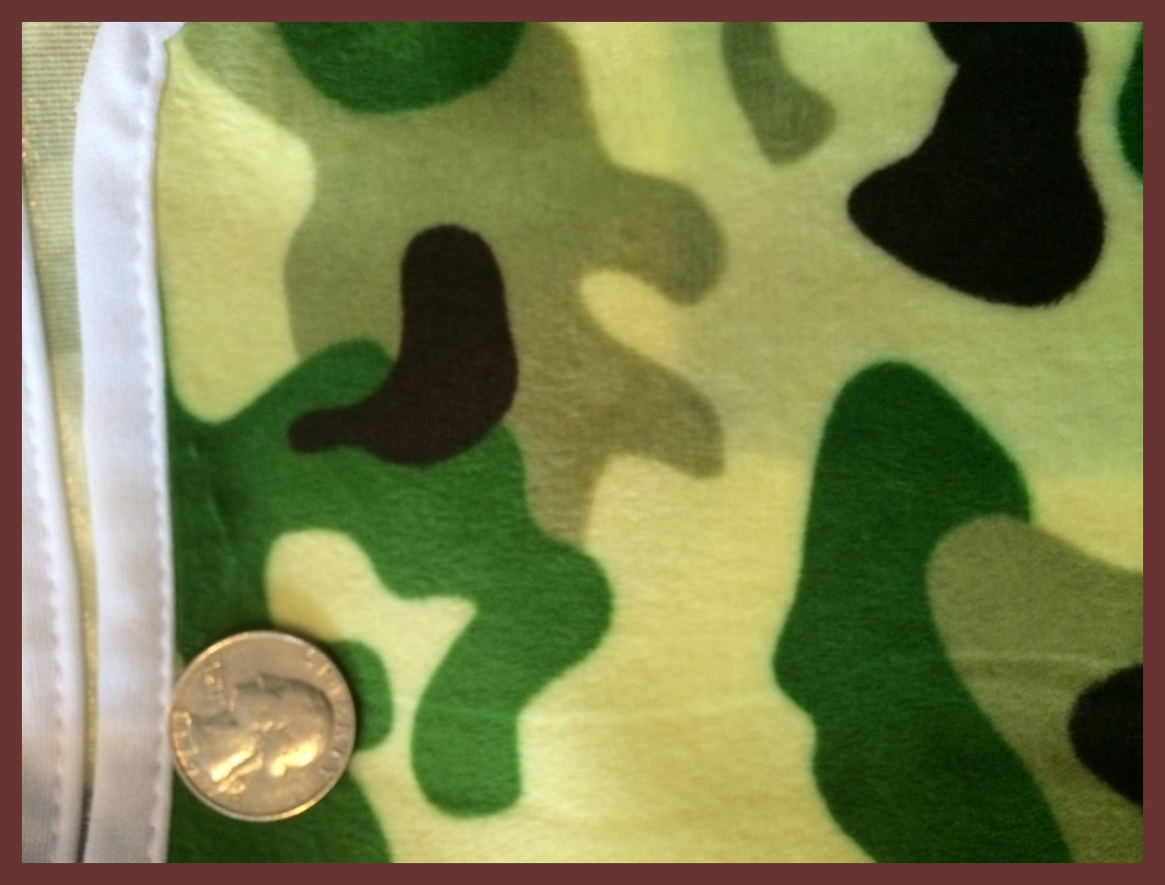 "Camo Minky - 28""X28"" Diaper Cut/Changing Pad"