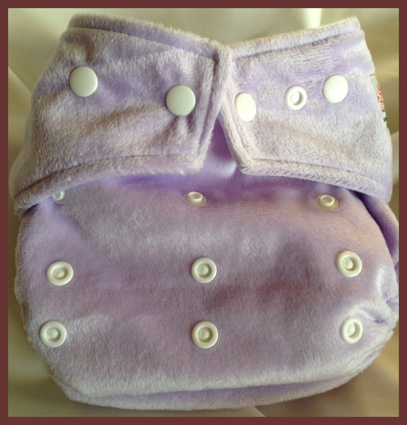 Lavender Minky Pocket One Size Diaper