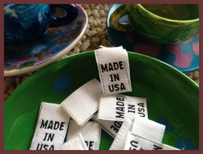 MADE IN USA size tags