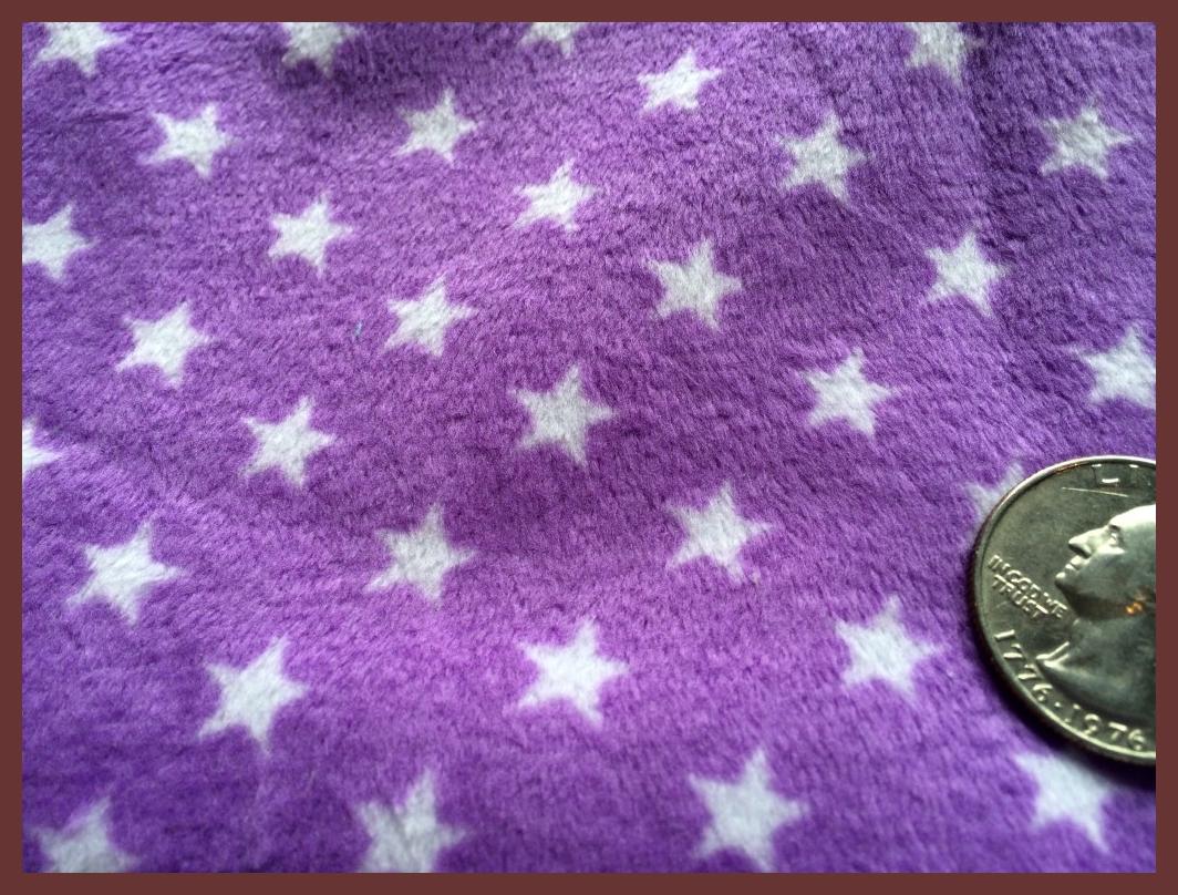 """Purple Stars - 28""""X28"""" Diaper Cut/Changing Pad"""