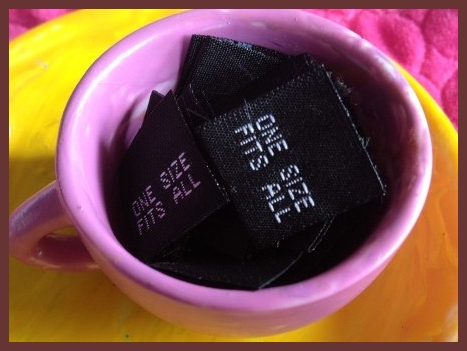 ONE SIZE Size Tags BLACK
