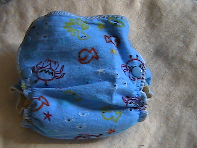 Sea Creatures Hemp Fitted size Small Side-Snapping