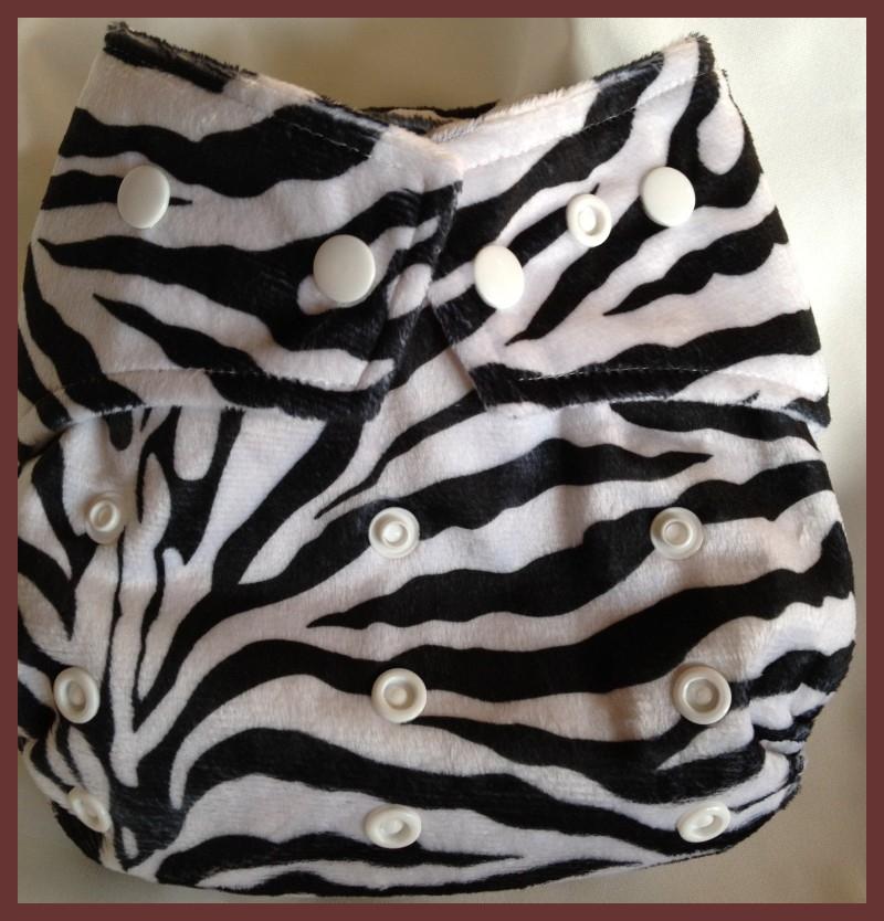 Zebra Minky Pocket One Size Diaper