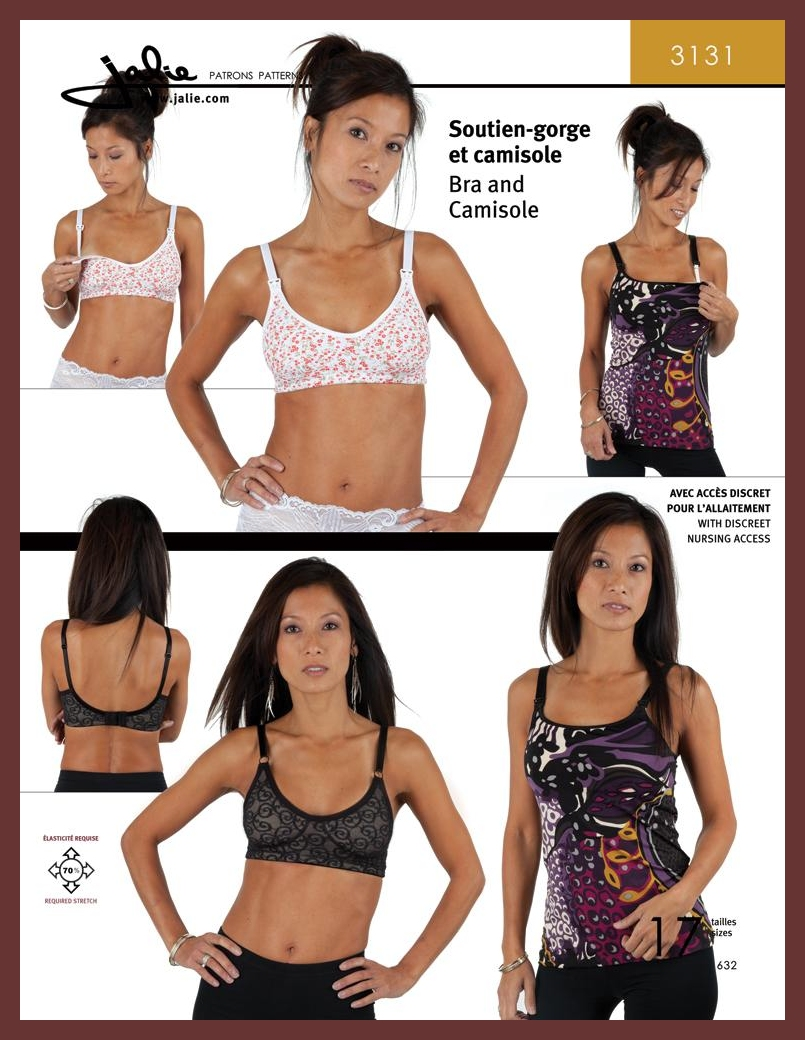 Nursing Bra and Camisole Jalie #3131