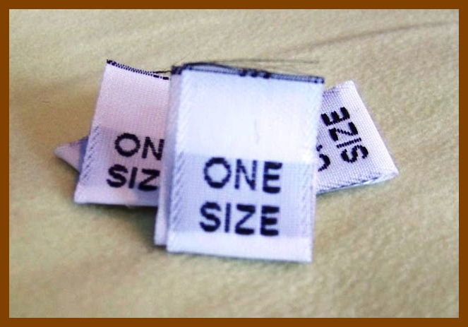 *50* ONE SIZE Size Tags White