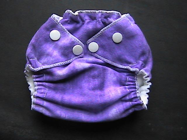 Tie Dye Purple Pocket Diaper - Newborn