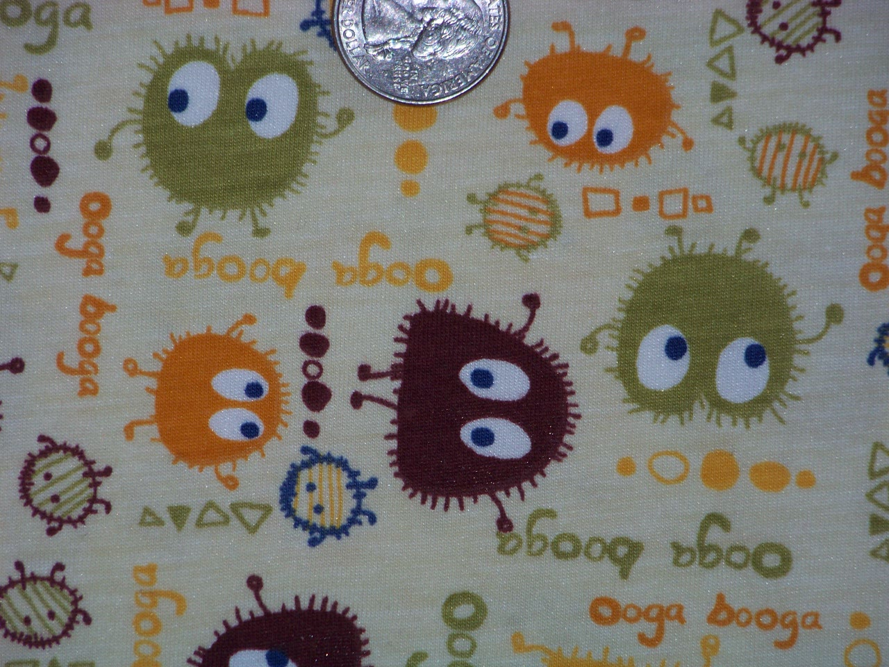 "Ooga Booga -cotton knit 18"" X 20"""