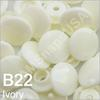 B22 Ivory  * 25 * Complete snap set