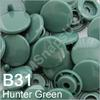 B31 Hunter/Forest  * 25 *  complete snap set