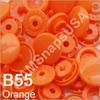 B55 Orange *25* complete snap set