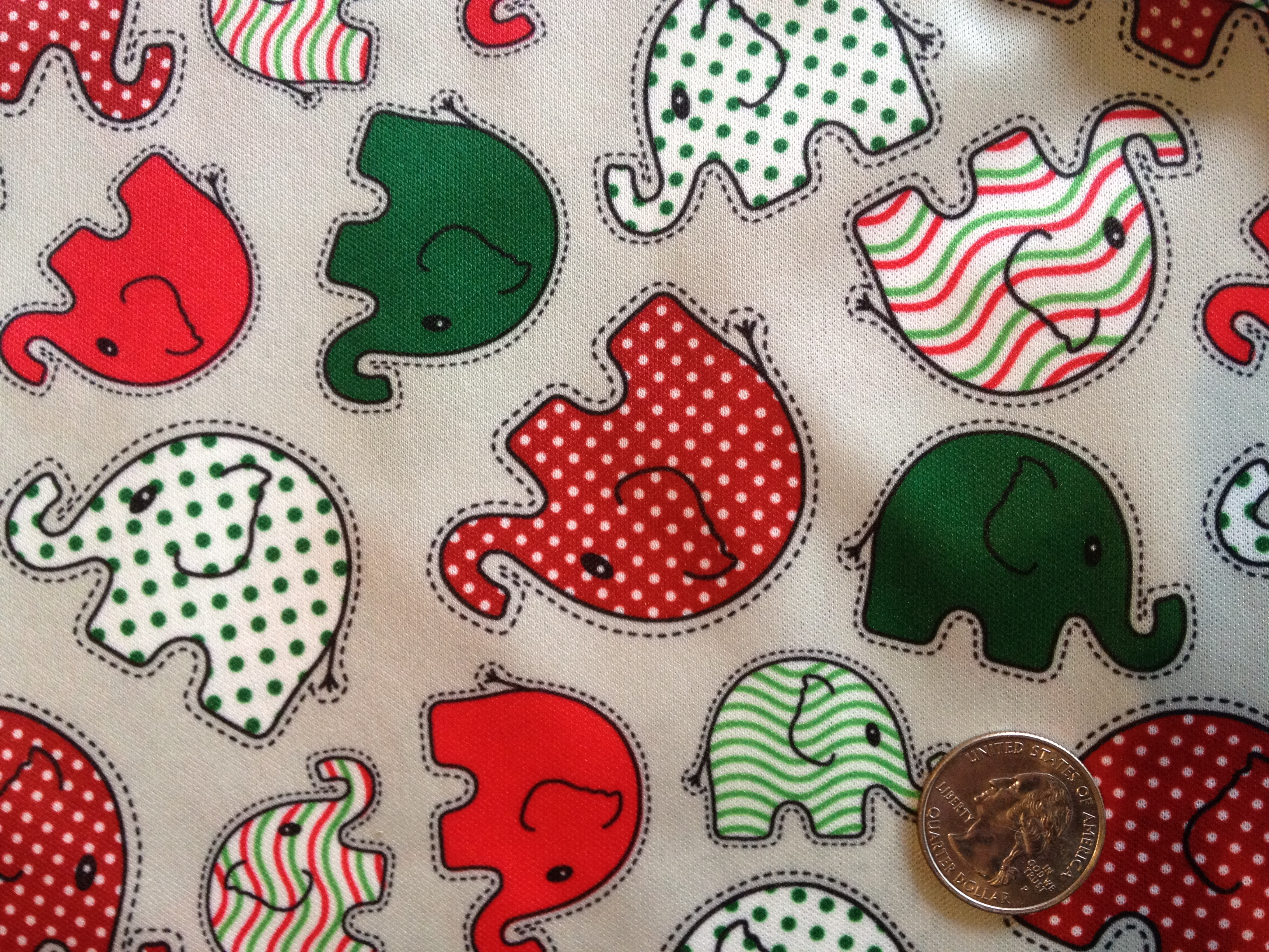 "Christmas Elephants 18"" X 20"""