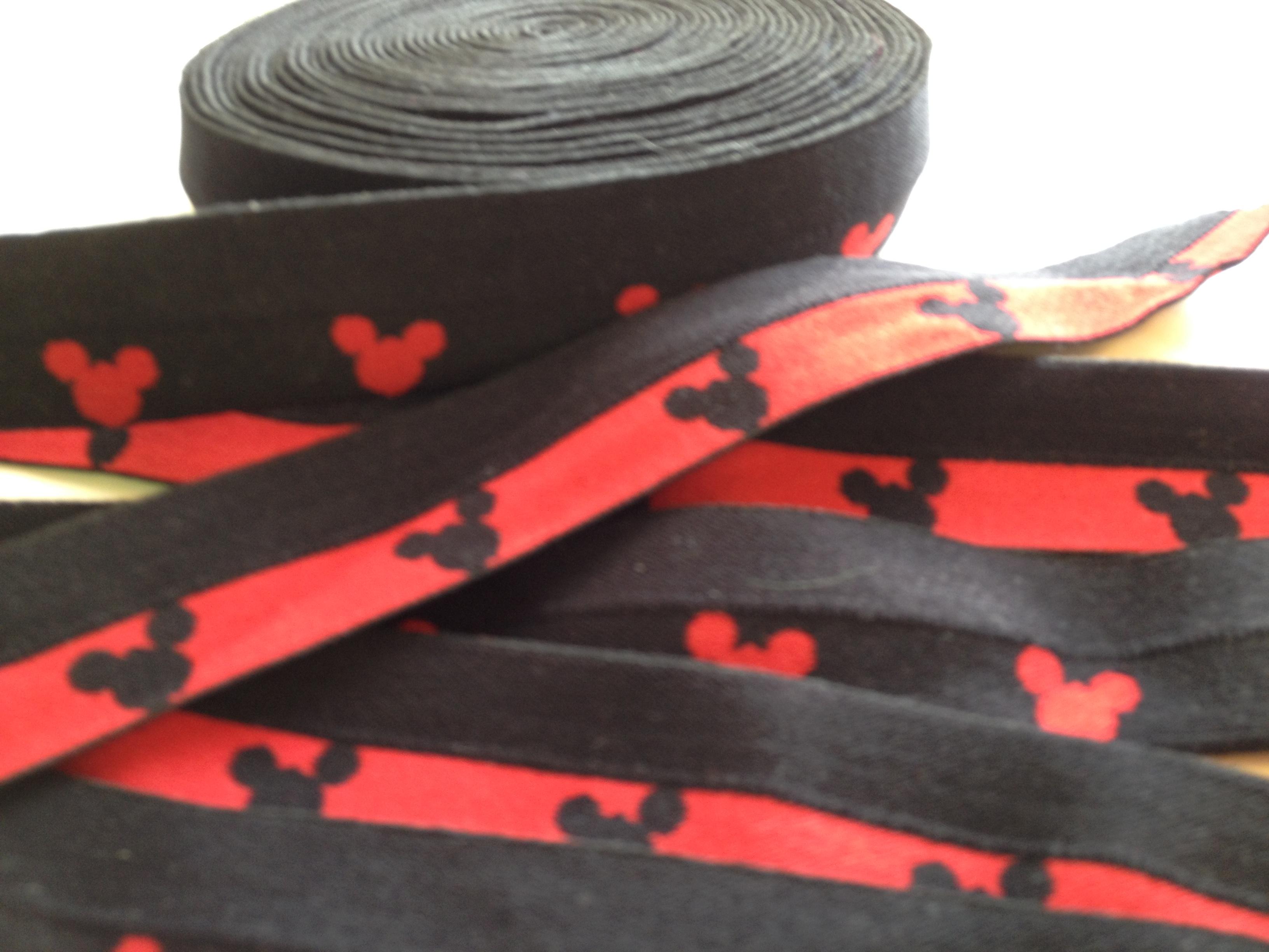 "1"" FOE Black/Red Mickey Silhouette"