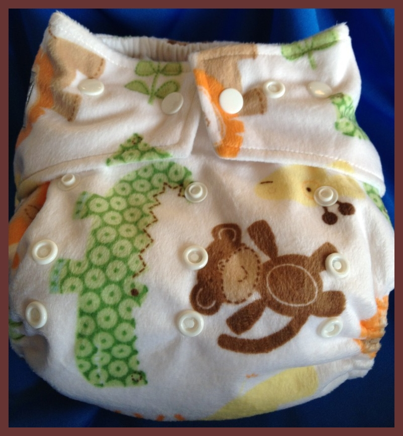 Jungle Safari Minky Pocket One Size Diaper