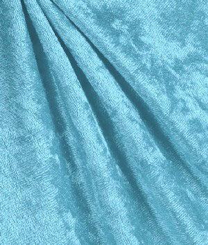 "Crushed Velvet ""Panne"" 40"" X 58/60 Lt. Blue"