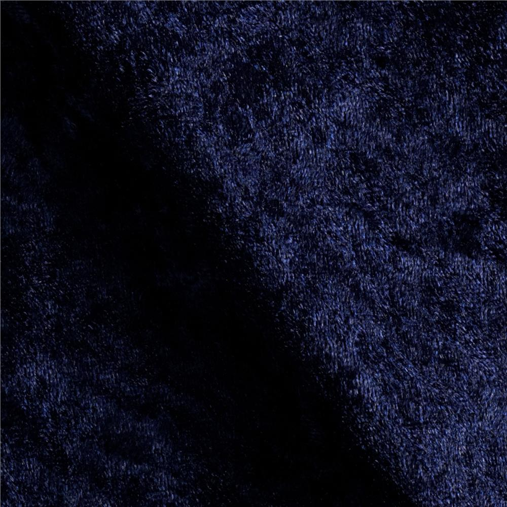 "Crushed Velvet ""Panne""48"" X 58/60""  Navy Blue"