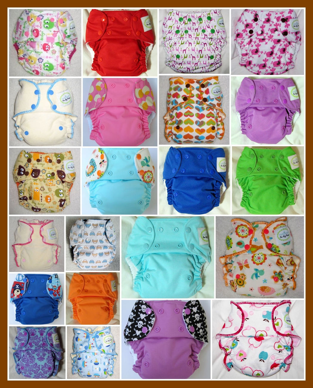 One Size Diapers - Nyki Baby - pattern