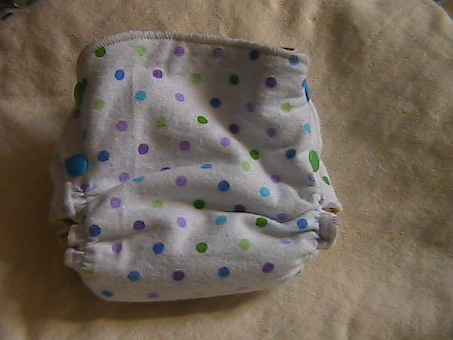 Polka Dots Hemp Fitted size Small Side-Snapping