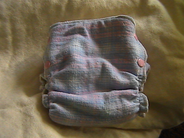 Pink & Baby Blue Plaid Hemp Fitted size Small Side-Snapping