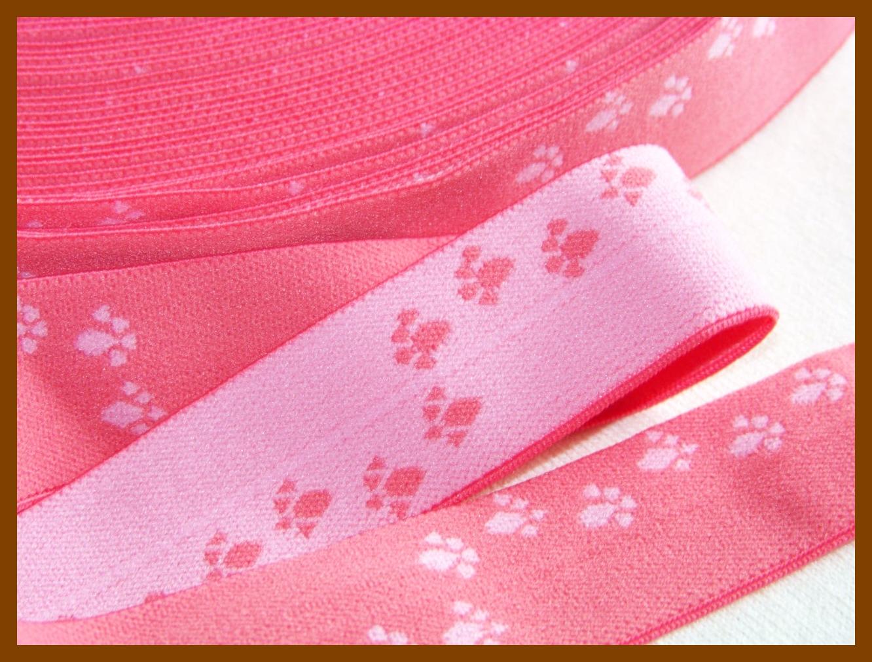 """1"""" FOE Paw Prints Pink"""