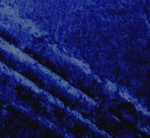 "Crushed Velvet ""Panne"" Royal Blue Color - by the Yard"