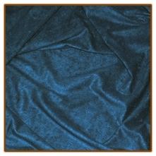 BLUE Suedecloth - by the inch