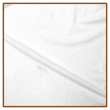 White Suedecloth - by the inch