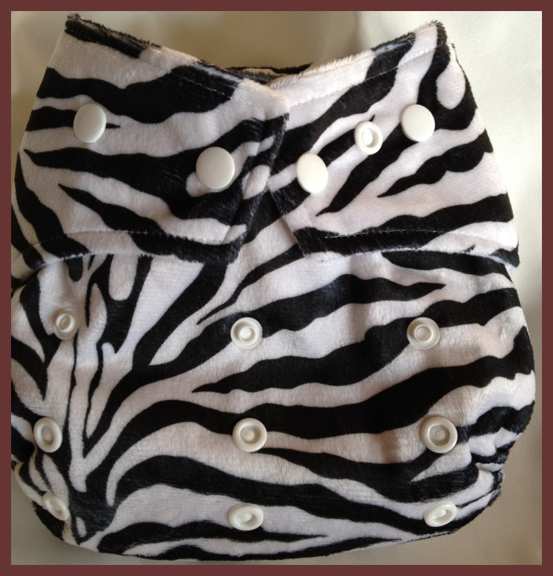 Zebra Minky Pocket One Size Diaper