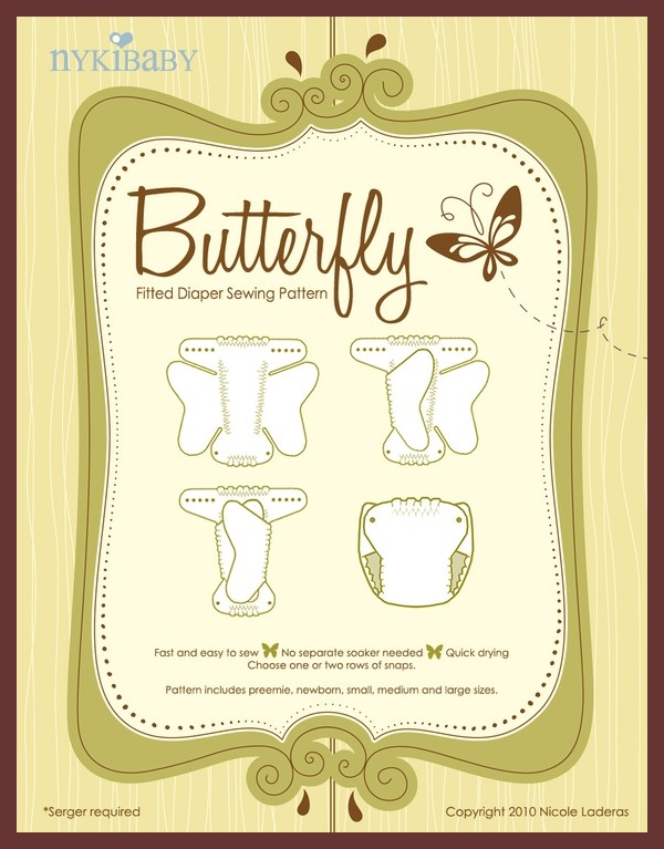 NykiBaby Butterfly Fitted Diaper - Nyki Baby - download