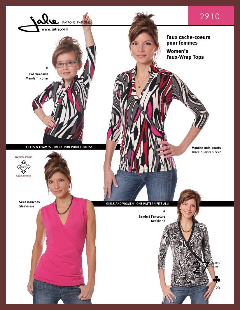 Faux-Wrap Top Jalie #2910