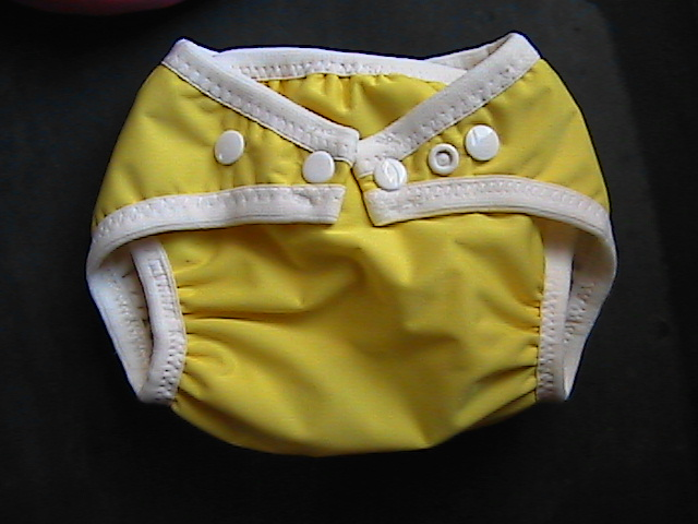 Yellow Pocket Diaper - Small