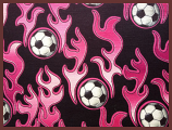 "Hot Pink Soccer 20""X20.5"""
