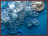 """Buttons 3/8"""" 10MM clear"""