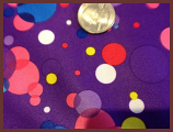 "Purple Bubbles 31/32"" X 59/60"""