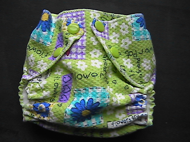 Flower Patches Pocket Diaper - Newborn